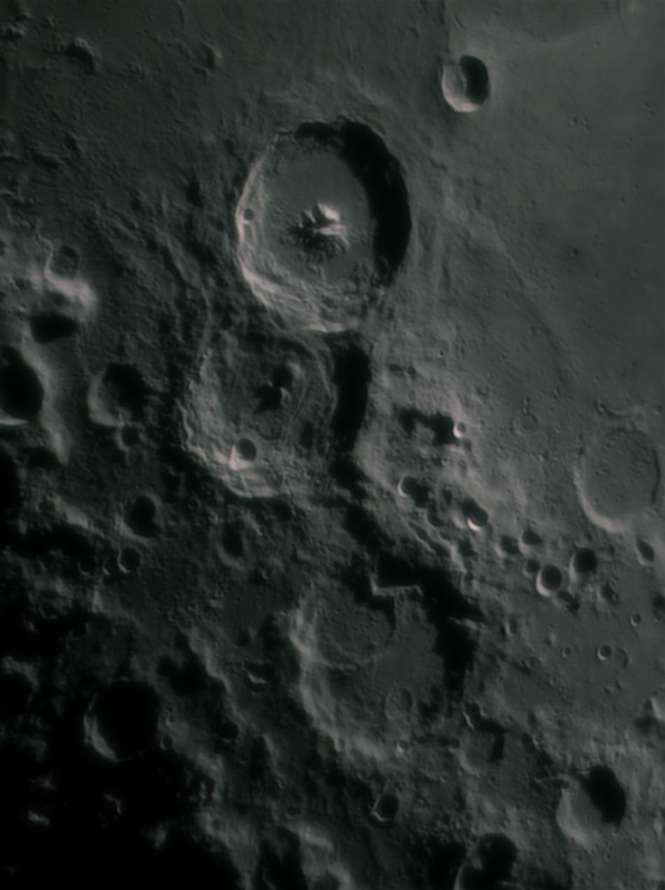 Cratères Theophilus, Cyrillus et Catharina le 14 mars 2016